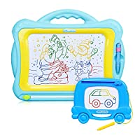 Meland Magnetic Drawing Board with Multi-Colors Drawing Screens - Magna Drawing Doodle Board Erasable Sketch Doodle Pad Magnetic Writing Board for Kids Toddlers Boys Girls