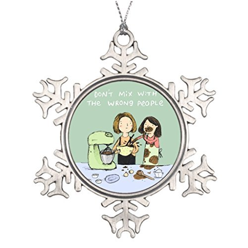 Metal Ornaments Personalised Christmas Tree Decoration Bake Blank One size ()
