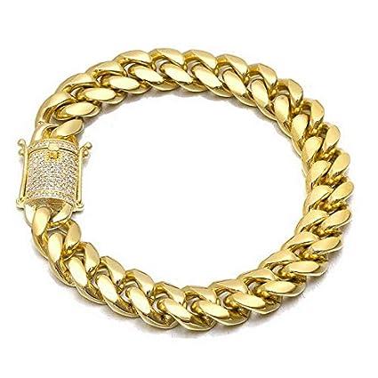 d3398c3861374 Amazon.com: Mikash Men Cuban Miami Link Chain Hip Hop Bracelet ...