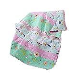 Abreeze Dance Girls Pattern Coverlet Quilt Bedspread Throw Blanket for Girl Cotton Bedding 55'' X 75''