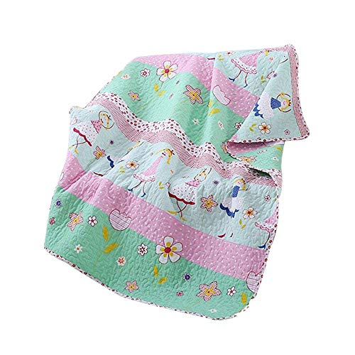 - Abreeze Dance Girls Pattern Coverlet Polka Dot Quilt Bedspread Throw Blanket for Girl Cotton Bedding 43