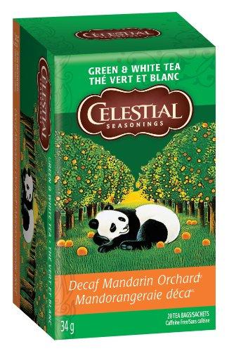 Celestial Seasonings Green Tea DECAF Mandarin Orchard, 20-count (Pack of6)