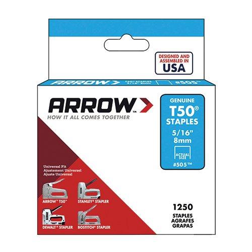 enuine T50 5/16-Inch Staples, 1,250-Pack (Arrow T50 Staples Box)