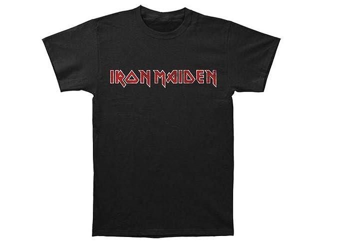 38fa5cad Amazon.com: Global Iron Maiden Unisex Distressed Logo T-Shirt: Clothing