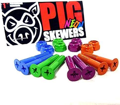 Monopat/ín accesorios Pig ruedas ne/ón pernos 1/Phillips