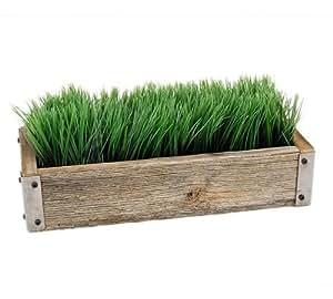 Handmade decorative reclaimed barnwood for Ornamental grass that looks like wheat