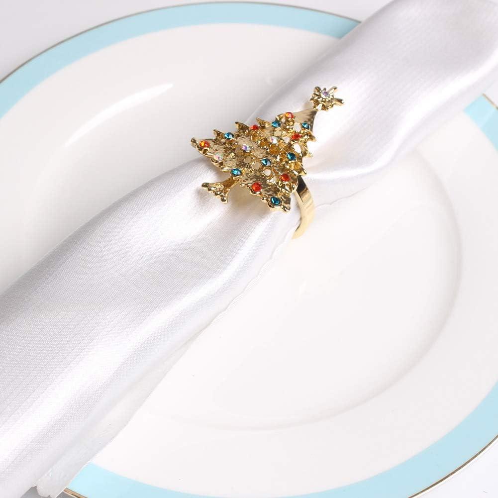 Portatovaglioli in Oro con Libellula e Portatovaglioli Utilizzato per la Cena di Nozze Timagebreze Set da 4 Pezzi