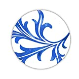 Generic Kawaii Made By Mdf Circle Name Tag Printed Blue And White Porcelain 3