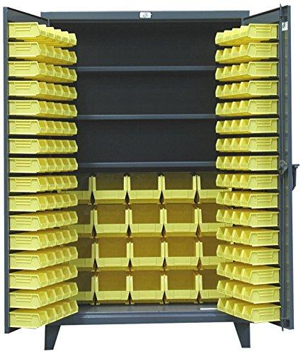 243 Storage Cabinet - Strong Hold Products 36-BBS-243 Dark Gray 3 Shelf Bin Storage Cabinet, 12 gauge, 1900 lb. Capacity per Shelf, 36