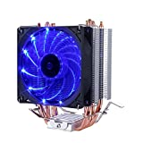 upHere CPU Cooler with 4 Direct Contact Heatpipes, Blue LED Fan