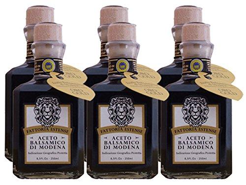 - Fattoria Estense Square Bottle 12 Year Old Balsamic Vinegar (Case of 6 - 8.5 Ounce Bottles)