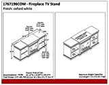 Ameriwood Home Manchester Fireplace TV Stand, White