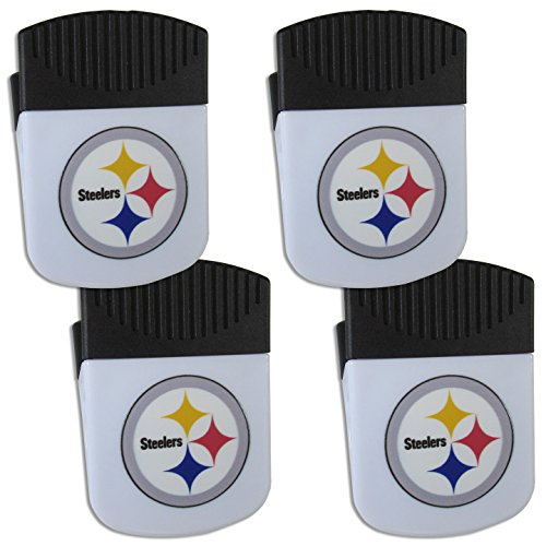 (Siskiyou NFL Pittsburgh Steelers Chip Clip Magnet with Bottle Opener, 4 Pack)