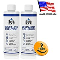 2-Pack Universal Descaling Solution - Descaler for Keurig, Cuisinart, Breville, Kitchenaid, Nespresso, Delonghi, Krups, and all other coffee brewers - by K&J