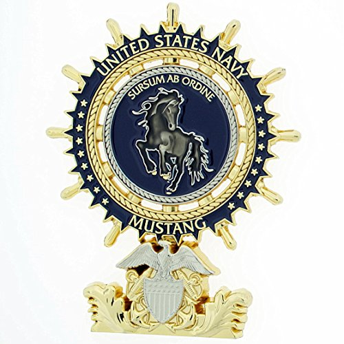 Navy Mustang - Chief Mustang Wheel with Stand US Navy Challenge Coin