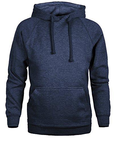- Guytalk Men's thick fabric Pullover Hoodie Sweatshirt Large Heather Navy