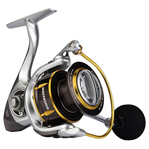 KastKing Kodiak Saltwater Spinning Fishing Reel - 39.5 LB Carbon Fiber Drag, All Aluminum, 10 + 1 Stainless Steel Shielded Bearings, Enhanced Stainless Steel Main Shaft