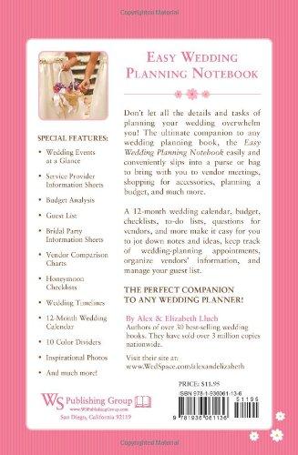 easy wedding planning notebook amazon co uk alex a lluch