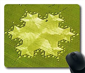 Oblong Shaped Cool Crop Circle Mouse Mat