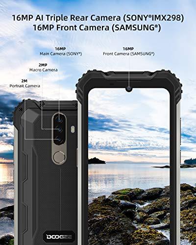 Telephone Portable Incassable, DOOGEE S58 Pro Smartphone Débloqué 4G, 5.71 Pouces, Android 10.0, 6Go+64Go, 16MP+16MP… 4
