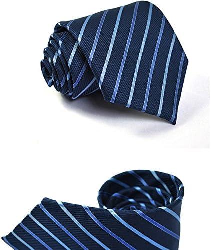 Gespout Corbata de Hombre Chicos Cl/ásica Pa/ño Tie Tuxedo Novio Vestido Ropa Maquillaje Accesorios Business Oficinas Turismo Funci/ón Plegable Regalo de Cumplea/ños 1pcs Azul 145 8 3.5CM