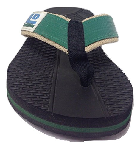 Landfill Dzine Recycled Mens Flip Flops Green 11 M US cT2FY