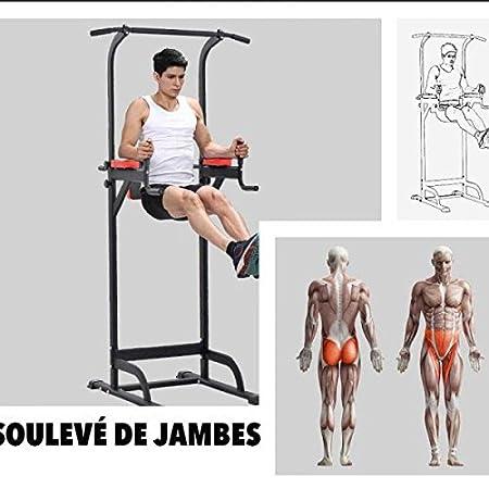 Pullup Fitness, barra de tracción o estación de musculación ajustable, silla romana para dips: Amazon.es: Deportes y aire libre