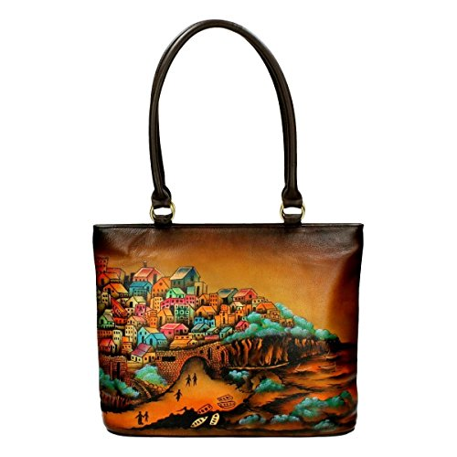 y Village Hand Painted Handbag Multi (Painted Village)