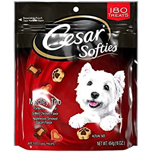 Amazon.com : CESAR SOFTIES Dog Treats Medley Trio, 16 oz