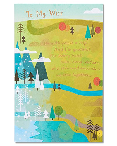 American Greetings Anniversary Card for Wife with Foil