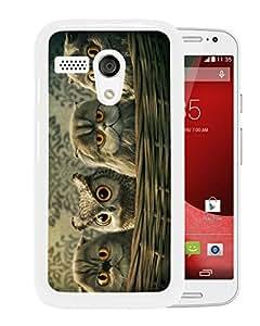 Fashion Designed Cute Owl 8 White Motorola Moto G Phone Case