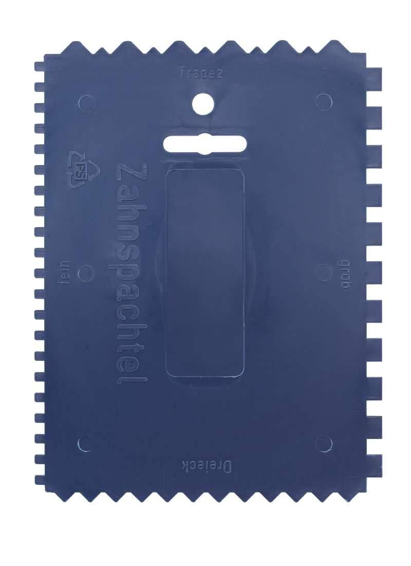 4-seitig gezahnt, 180 x 140 mm 032900 KWB Kunststoff-Zahnspachtel