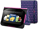BUILT Slim Folio Standing Case for Kindle Fire HD 7-Inch, Mini Dot Navy, Best Gadgets