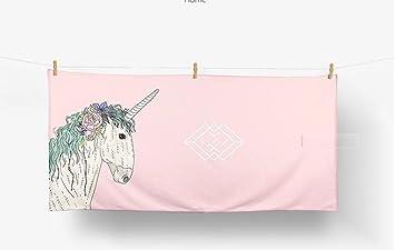 XKS Unicornio/Personalidad/Macaron Rosa/Baño/Albornoz/Playa Toalla Grande Absorbente Nadada Adulto: Amazon.es: Hogar