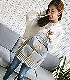 School Backpack Ankola Women Girls Canvas Preppy Shoulder Bookbags School Travel Backpack Bag (10.6'', Gray)