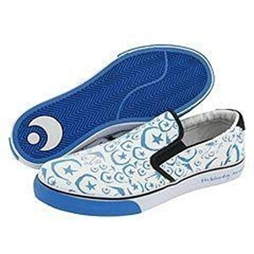 Osiris Skateboard Schuhe / Slip On Scoop White / Blue / Foundation Moons - 1B Ware