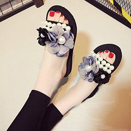 moda scarpe fondo FLYRCX morbido antiskid c pearl da spiaggia outdoor casual pantofole Onorevoli fHawa5Sxq