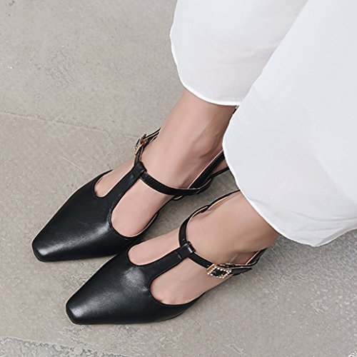 Haut Sandales Salomé Oaleen Bride Classique Femme Arrière Soirée Strass Noir Chaussures Escarpins Talon 1IqnUwAq