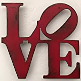 LOVE Metal Wall Art – Choose your size – 8×8, 11×11, 17×17, 24×24 or 36×36 inch tall – Choose LOVE, HOME or HOPE sign – Choose your Patina Color