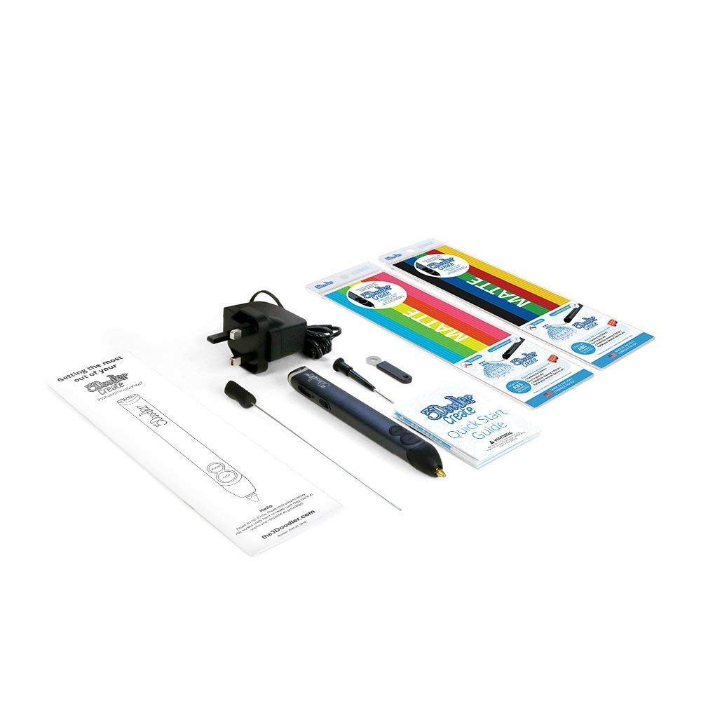 3Doodler Create 3D Pen with 50 Plastic Strands, No Mess, Non-Toxic -