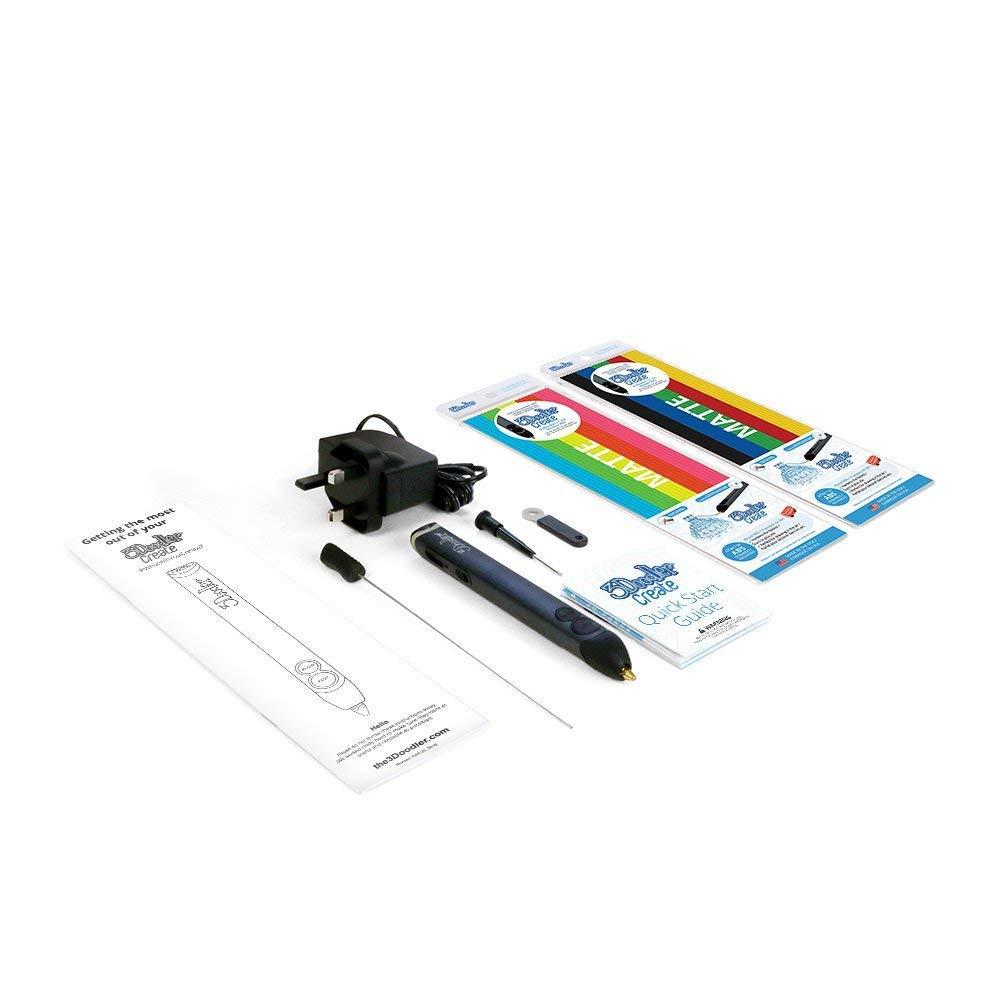 3Doodler Create 3D Pen With 50 Plastic Strands, No Mess, Non-Toxic, Smoky Blue WobbleWorks Inc. 3DOOD-CRE-E-US