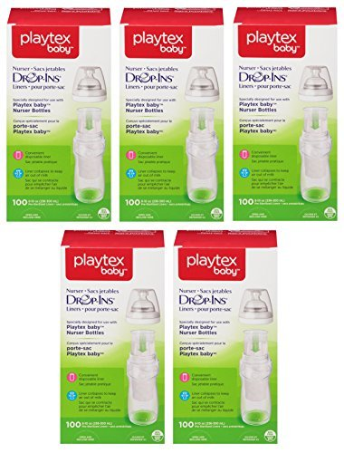 Playtex Drop in Liners for Nurser Bottles, 8-10 Ounce, 500 Count