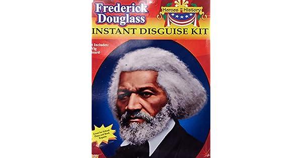 Black History School Report Frederick Douglass Wig Beard Costume Accessory Kit