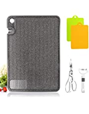 Masthome Kitchen Cutting Board Multifunctional Non- Slip and Durable Dishwasher Safe Chopping Board, BPA-Free, 2 Plastic Cutting Boards, 1 Peeler, 1 Scissors