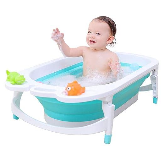 JINRONG_xzp Bañera para bebés Plegable Bañera de Seguridad ...