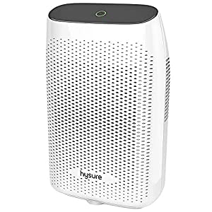 Hysure Electric Dehumidifier, Dehumidifier for Home with 2000ml(68fl.oz) Water Tank Compact and Portable Dehumidifier for Bedroom Damp Air, Mold, Moisture, Kitchen, Bedroom, Basement, Caravan, Office