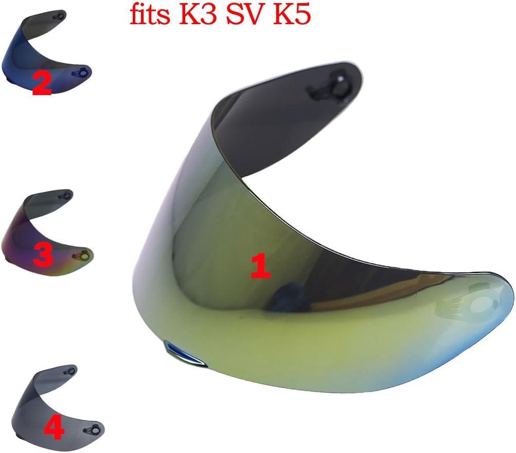Clear perfk 2X Ersatzvisier Helmvisier Helmschutz f/ür AGV K3SV /& K5 Motorradhelm Tawny