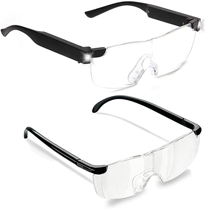 Zoom Vision Plus 160% Magnifying Glasses with LED lights for Men and Women