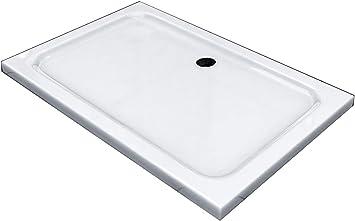 80 x 80 cm Duschtasse Duschwanne Acrylwanne Acryl Brausewanne 5 cm flach