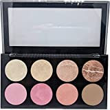 Sivanna Colours Pro HD Blusher, Highlighter and Contour Palette, 18g (3)